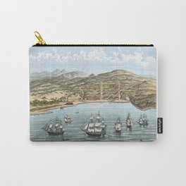 SAN FRANCISCO CALIFORNIA city old map Father Day art print poster Carry-All Pouch