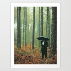 Trees In Suits Art Print