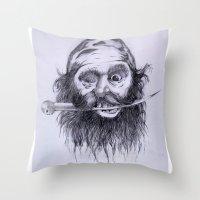charlie Throw Pillows featuring Charlie by Joe Cardoso