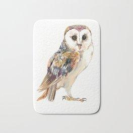Barn Owl home decor, owl lover gift Bath Mat