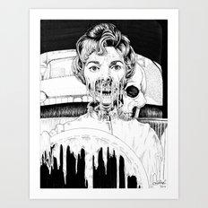 Psycho Melt Art Print