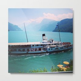 Swiss Transport Metal Print