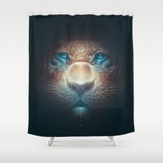 Red Tiger Shower Curtain