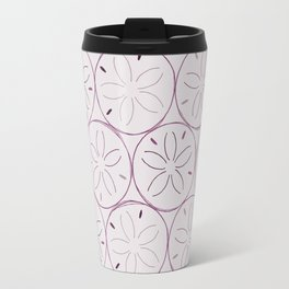 Sanddollar Pattern in Purple Travel Mug