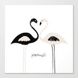 Armony flamingos Canvas Print