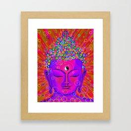 Stillness pink Framed Art Print