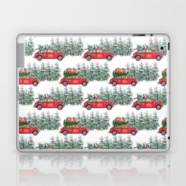 Corgis in car in winter forest Laptop & iPad Skin