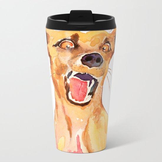 crazy dog Metal Travel Mug