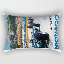 Gran Prix de Monaco, 1966, original vintage poster Rectangular Pillow