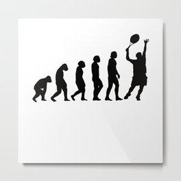 Evolution Tennis Metal Print