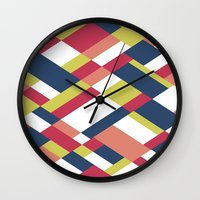 matisse Wall Clocks featuring Map Matisse by Project M