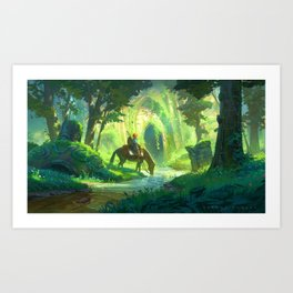 Link and the Forest Temple Art Print