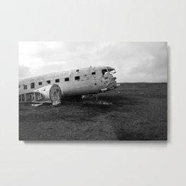 Abandoned Plane Metal Print