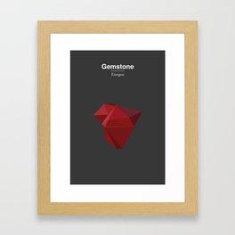 Gemstone - Energon Framed Art Print