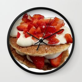 pancakes_strawberries_and_whip_cream Wall Clock