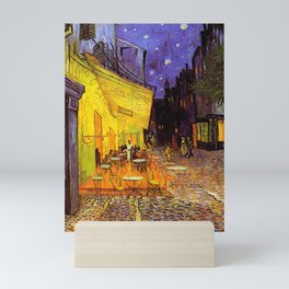 Vincent Van Gogh Cafe Terrace At Night Mini Art Print
