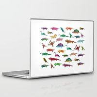 dinosaurs Laptop & iPad Skins featuring dinosaurs by victoriazorus