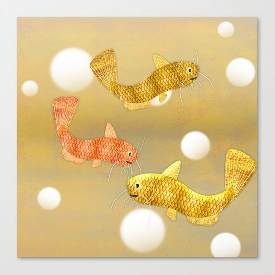 Toy Catfish (Gold) Canvas Print