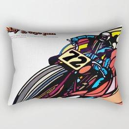 Vintage 70s Californian Race poster Rectangular Pillow