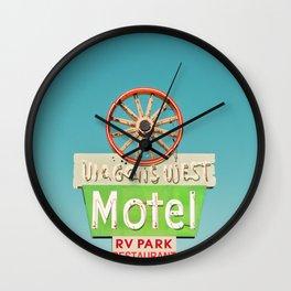 Wagons West Motel Wall Clock