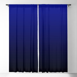 Gradient Effect (Vertical) - Admiral Blue Blackout Curtain