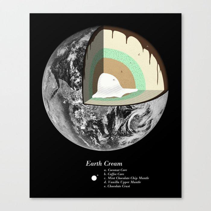 Earth Cream Canvas Print