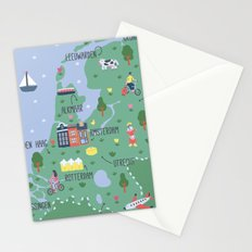 Holland Map Stationery Cards