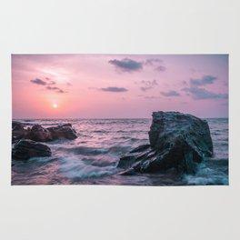 Ocean landscape at sunset Rug