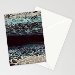 Underwater reflections, ocean deep, divers Stationery Cards