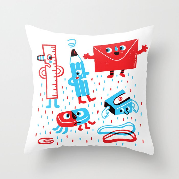Stationery friends Throw Pillow