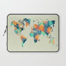 map world map 57 Laptop Sleeve