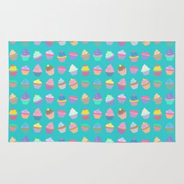 Cupcake sweet dream colourful factory pattern Rug