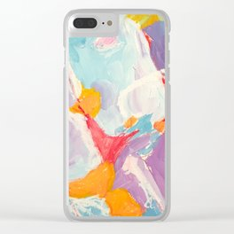 Abstract XVII Clear iPhone Case