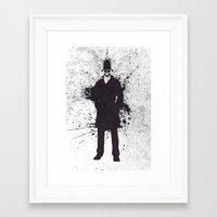 watchmen Framed Art Prints featuring WATCHMEN - RORSCHACH by Zorio