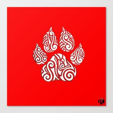 Tribal Tiger Paw Canvas Print