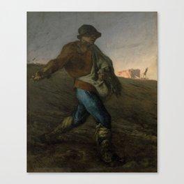 Jean-François Millet, The Sower Canvas Print