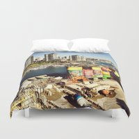 vancouver Duvet Covers featuring Vancouver giants by amberino