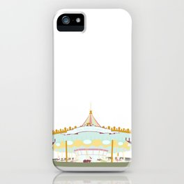 Carousel - white background iPhone Case