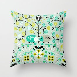 Hedgehog Lovers Throw Pillow