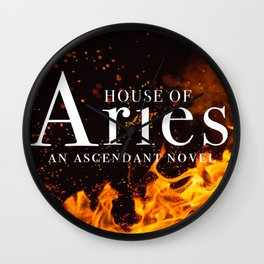 House of Aries Fire Wall Clock