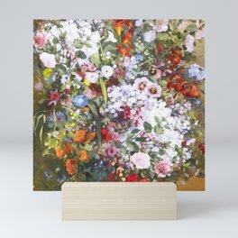 Spring riot of flowers - Courbet inspired Mini Art Print