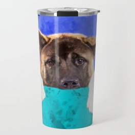 American Akita Puppy Travel Mug