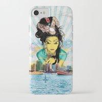 geisha iPhone & iPod Cases featuring Geisha by MATEO