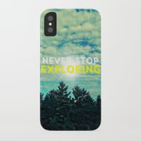 never stop exploring iPhone & iPod Cases featuring Never Stop Exploring II by Josrick