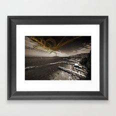 Sorrento Erupts Framed Art Print