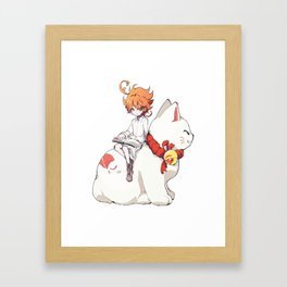 Emma The Promised Neverland Framed Art Print