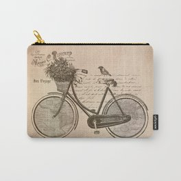 Antique Bicycle Carry-All Pouch