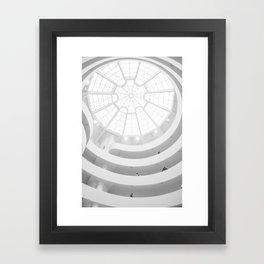 Guggenheim Interior | Frank Gehry | architect Framed Art Print