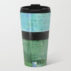 Sky Blue Sky Contemporary Abstract Landscape McNulty Metal Travel Mug
