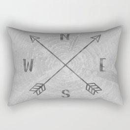 Compass Black and White Tree Rectangular Pillow